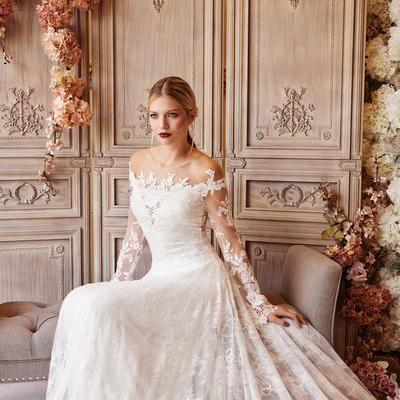 Wedding Dresses - Alexandra stretch lace bohemian wedding dress - Joyce Young By Storm
