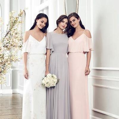 Grey bridesmaid dres