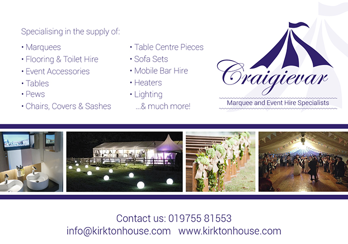 Craigievar Marquee  and Toilet Hire